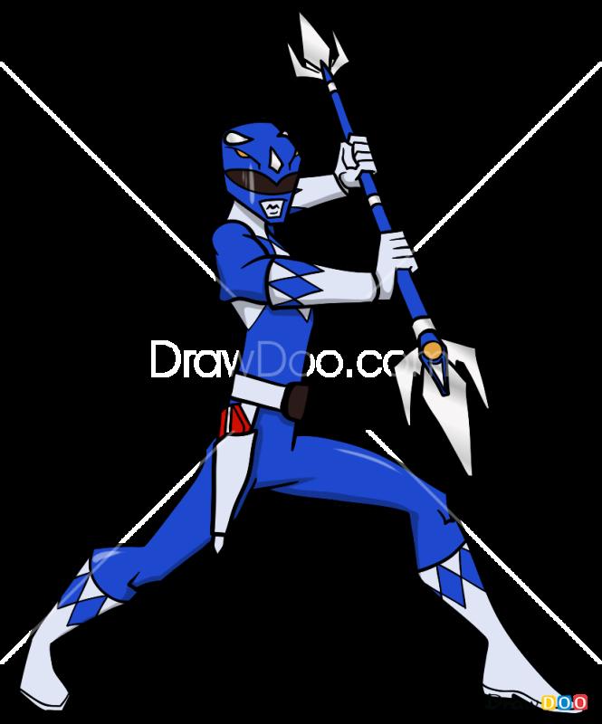 How to Draw Blue Ranger, Power Rangers