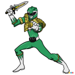 How to Draw Green Ranger, Power Rangers