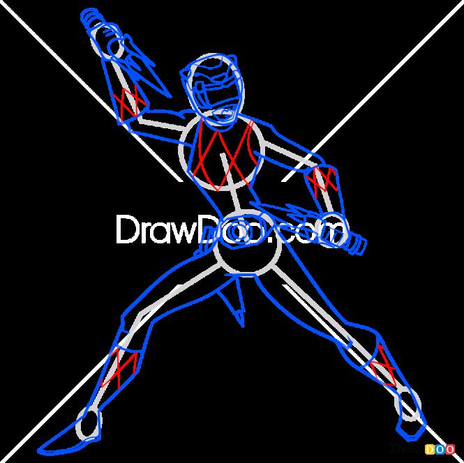 How to Draw Yellow Ranger, Power Rangers