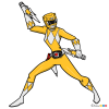 How to Draw Yellow Ranger, Power Rangers