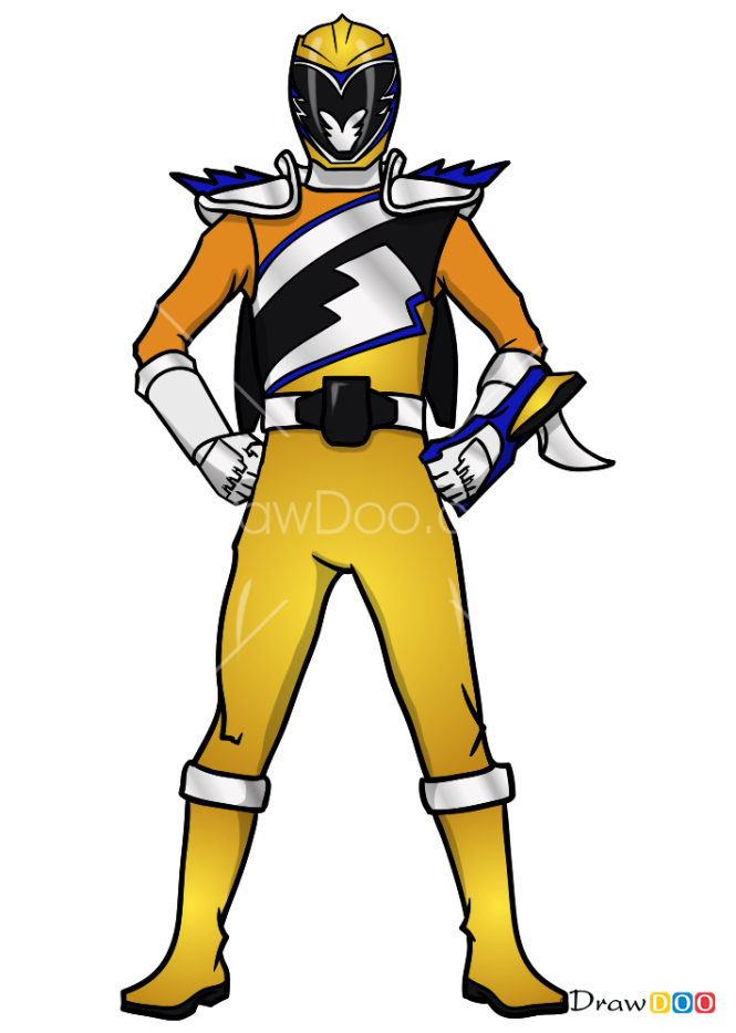 How to Draw Gold Ranger, Power Rangers