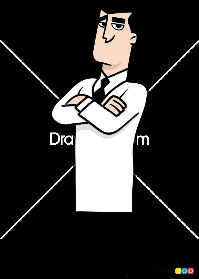 How to Draw Professor Utonium, Powerpuff Girls