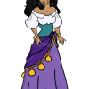 How to Draw Esmeralda, Cartoon Princess