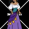 How to Draw Esmeralda, Cartoon Princess