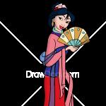 How to Draw Mulan, Cartoon Princess