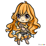 How to Draw Chibi Yang, RWBY