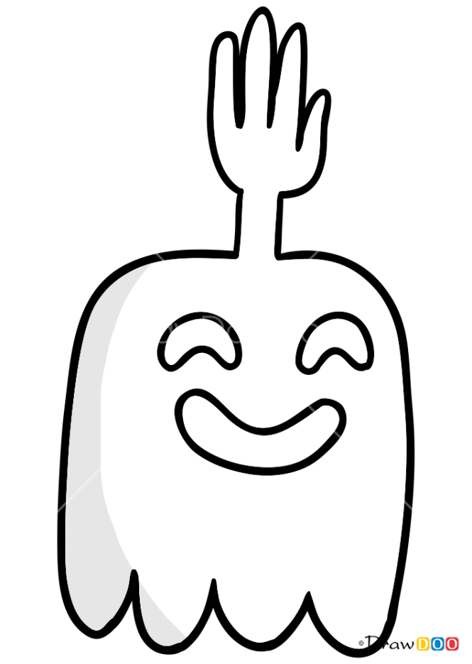 How to Draw High Five Ghost, Regular Show