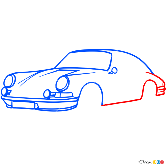 How to Draw Porsche 912, Retro Cars