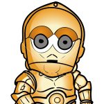 How to Draw C3PO Chibi, Robots