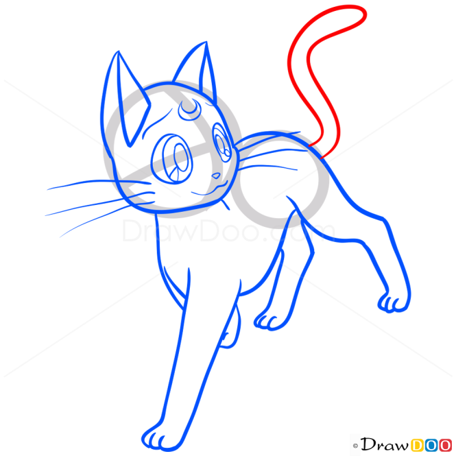 How to Draw Artemis, Sailor Moon