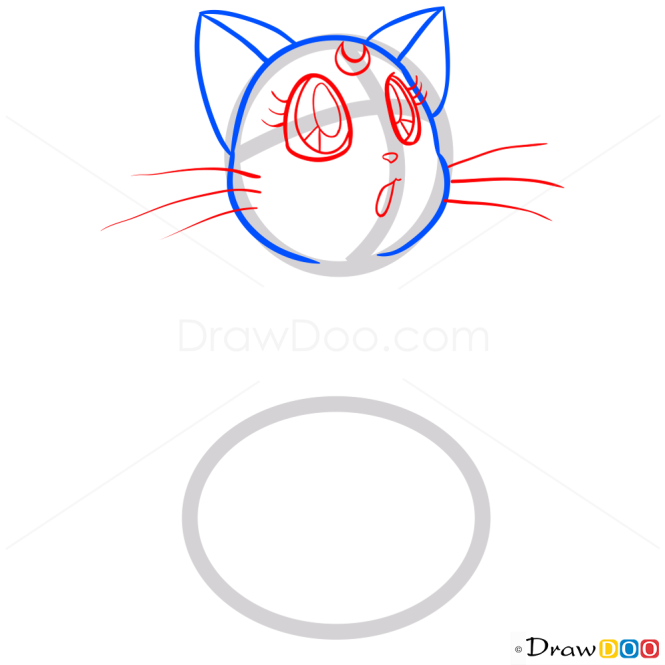 How to Draw Luna, Sailor Moon