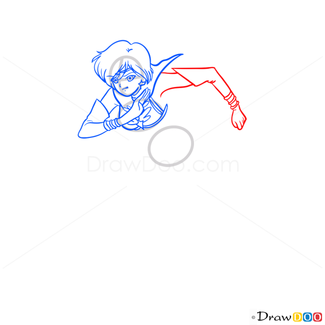 How to Draw Kou Yaten, Sailor Moon