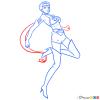 How to Draw Kou Taiki, Sailor Moon