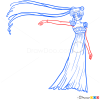 How to Draw Princesse Serenity, Sailor Moon