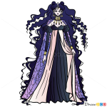 How to Draw Queen Nehelenia, Sailor Moon