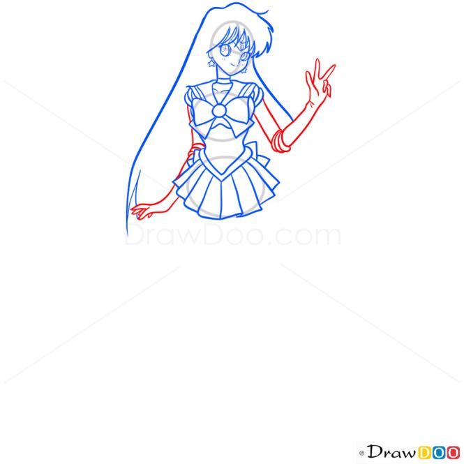 How to Draw Sailor Mars, Sailor Moon