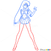 How to Draw Sailor Mars, Sailor Moon