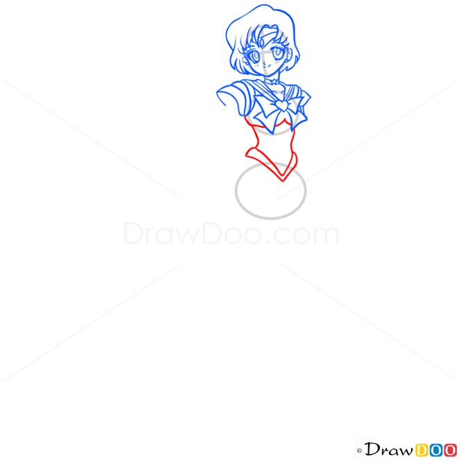 How to Draw Sailor Mercury, Sailor Moon
