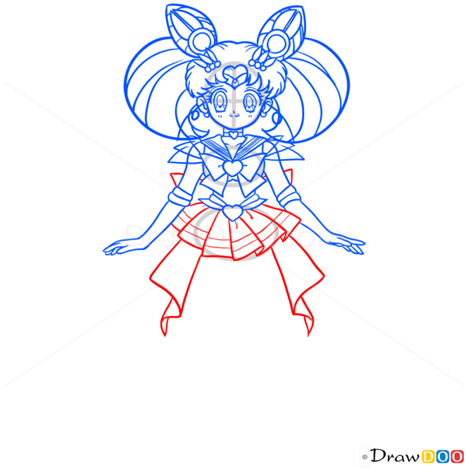 How to Draw Sailor ChibiMoon, Sailor Moon