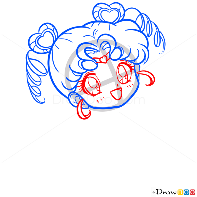 How to Draw Sailor ChibiChibi, Sailor Moon