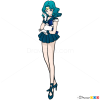 How to Draw Sailor Neptune, Sailor Moon