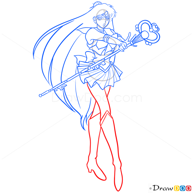 How to Draw Sailor Pluto, Sailor Moon