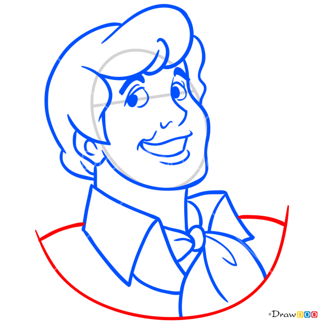 How to Draw Fred Jones, Scooby Doo