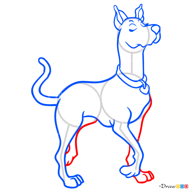 How to Draw Scooby Dee, Scooby Doo