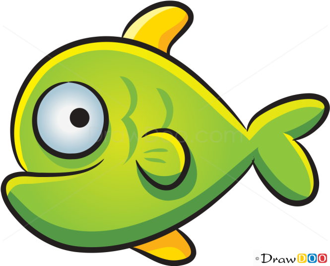How to Draw Green Fish, Sea Animals