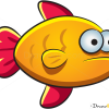 How to Draw Orange Fish, Sea Animals