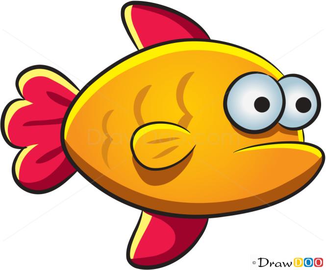 How to Draw Orange Fish, Sea Animals