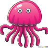 How to Draw Pink Octopus, Sea Animals