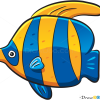 How to Draw Color Fish, Sea Animals