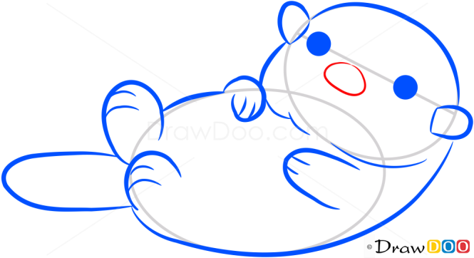 How to Draw Small Otter, Sea Animals