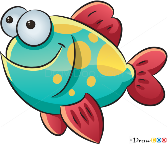 how to draw a fish in the sea