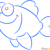 How to Draw Happy Fish, Sea Animals