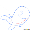 How to Draw Funny Whale, Sea Animals