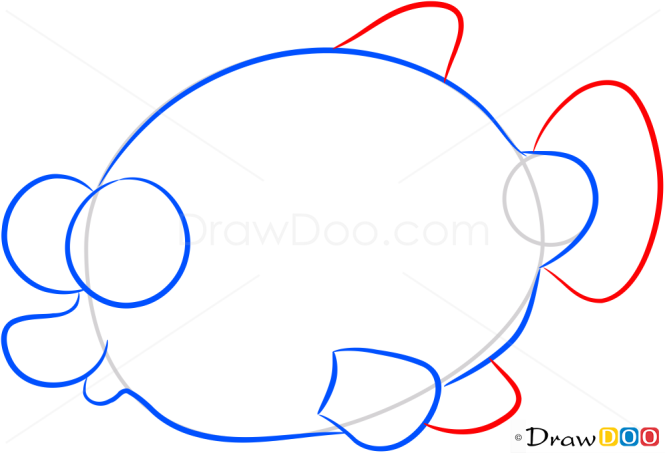 How to Draw Yellow Fish, Sea Animals