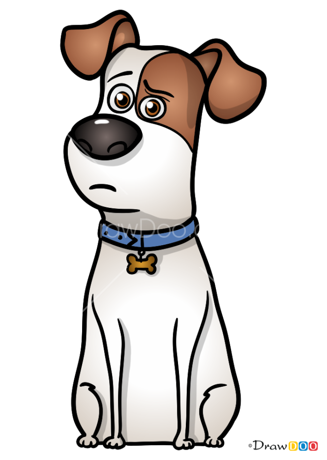 How to Draw Max, Secret Life of Pets