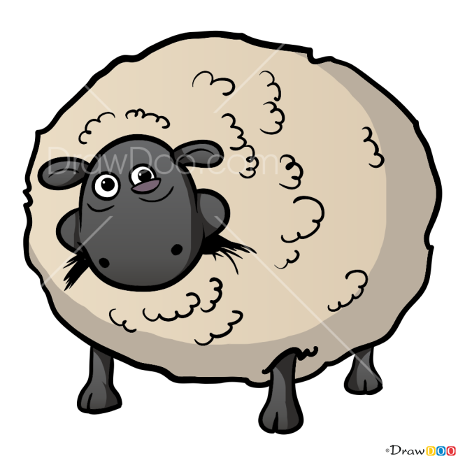 How to Draw Shirley, Shaun the Sheep