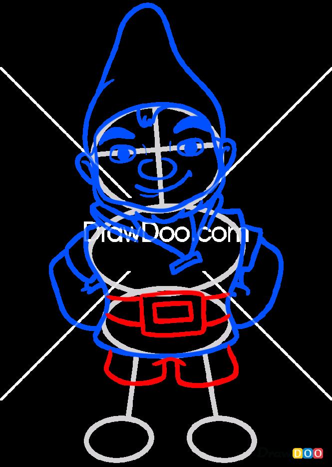 How to Draw Gnomeo, Sherlock Gnomes