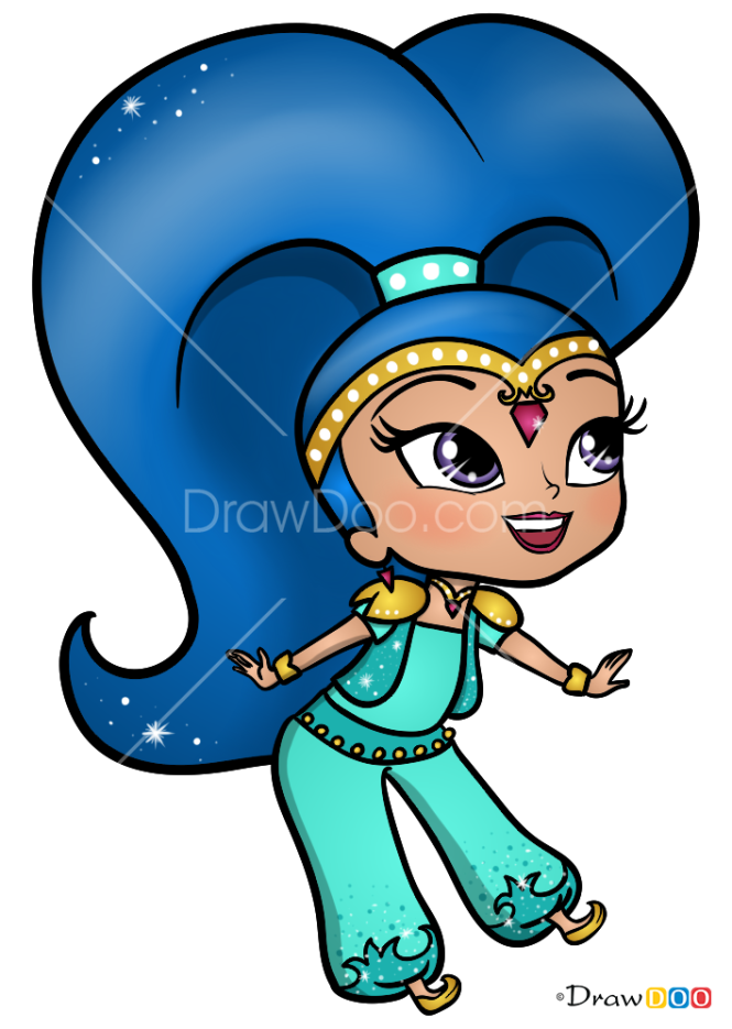 How to Draw Shine, Shimmer and Shine