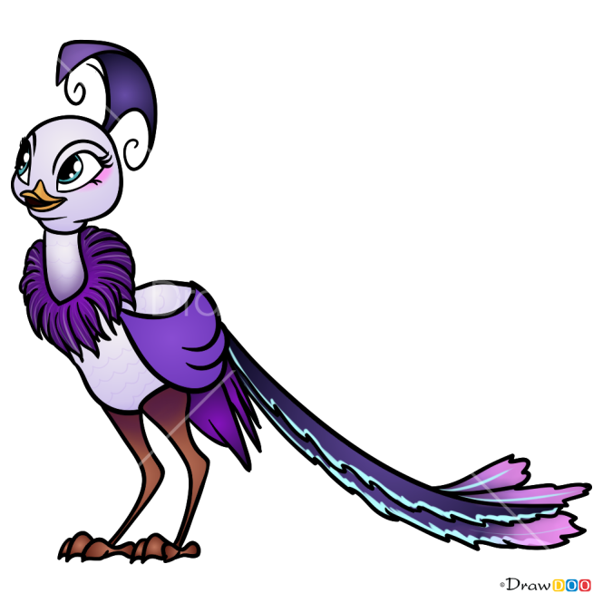 How to Draw Peacock, Shimmer and Shine
