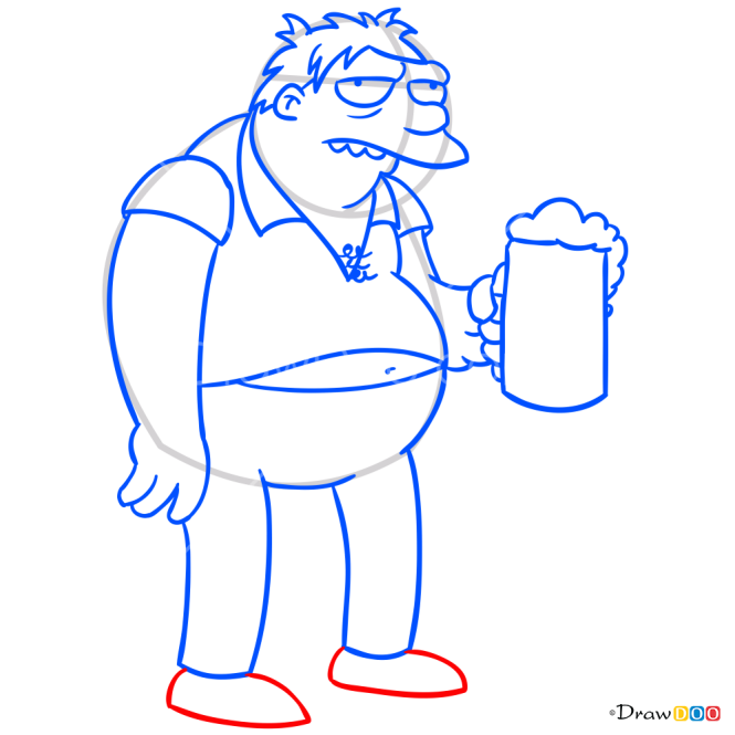 How to Draw Barney, The Simpsons
