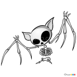 How to Draw Bat Skeleton, Skeletons