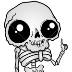 How to Draw Chibi Skeleton, Skeletons