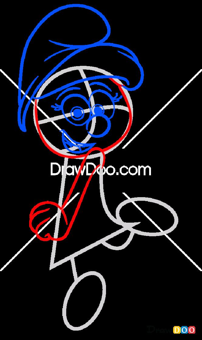 How to Draw Smurfette, Smurfs