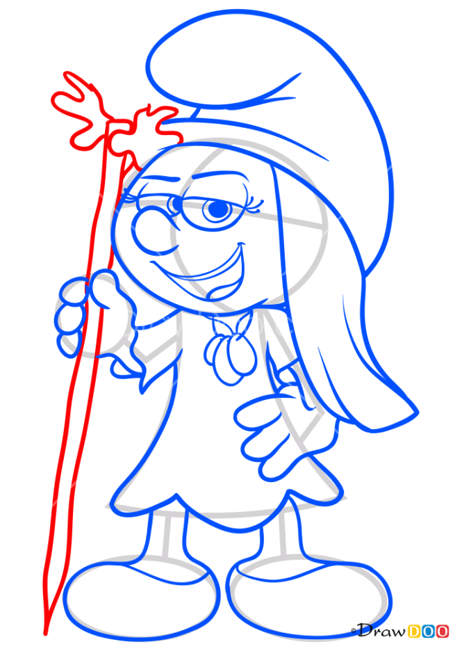 How to Draw Melody, Smurfs