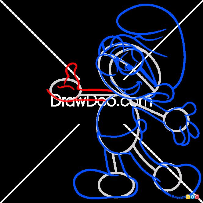 How to Draw Brainy, Smurfs