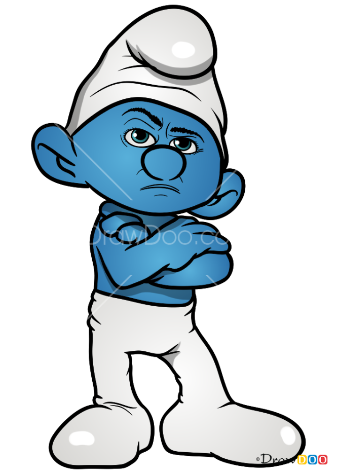 How to Draw Grouchy, Smurfs